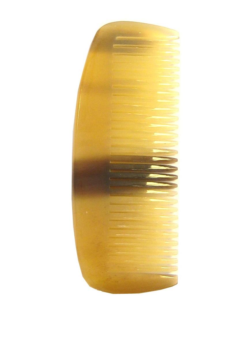 Golddachs Bartkamm aus handgesägtem Horn