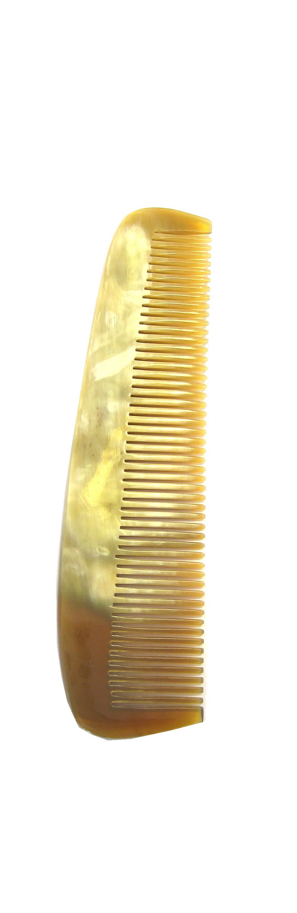 Golddachs Taschenkamm aus handgesägtem Horn