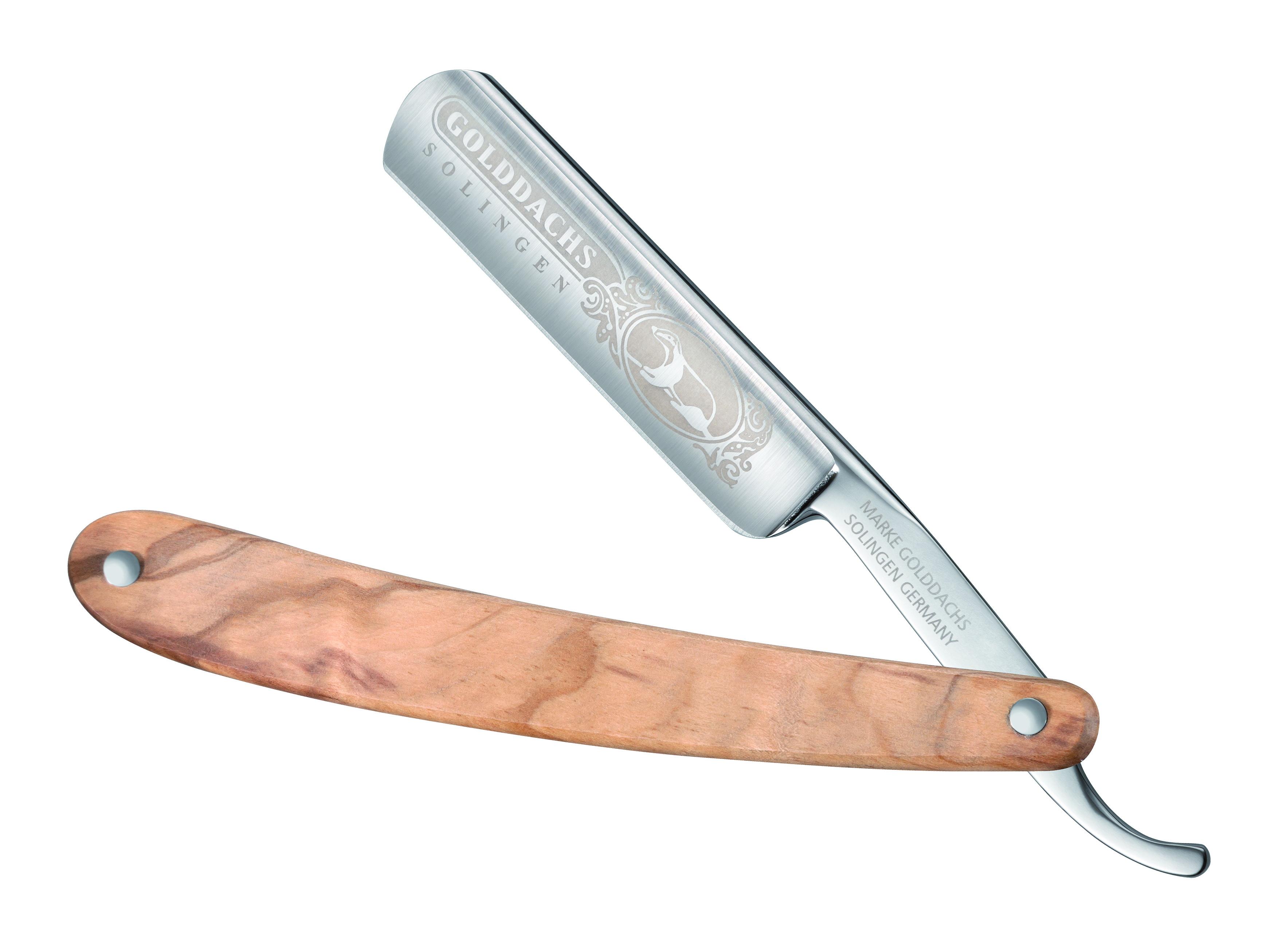 Rasiermesser mit Olivenholzschale