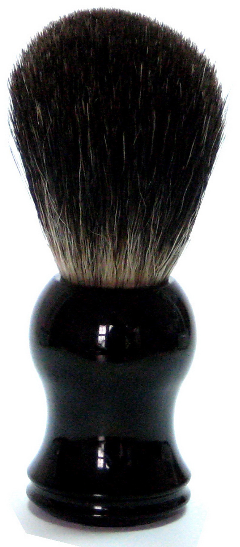 Rasierpinsel mit Kunststoffgriff schwarz